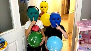 Sado'nun Sihirli Balonları !! Sado's Magic Balloons & Cute Masks playing Hide and Seek