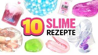 10 BESTEN SCHLEIM REZEPTE!!! 😱 Eisberg Slime! Perlenslime! Durchsichtiger Slime! Slime Ohne Kleber!
