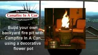 Diy Campfire In A Can In Decorative Flower Pot