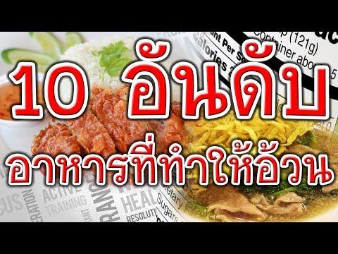 10 อันดับอาหาร ที่ทำให้อ้วนไม่รู้ตัว!!