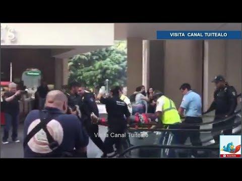 Se registra balacera en el Centro Comercial Reforma 222 Video Hay 1 herido