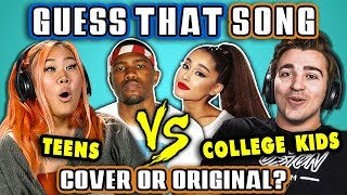 Download GUESS THAT SONG CHALLENGE - COVER OR ORIGINAL | Teens Vs. College Kids (React) Mp3 and Videos