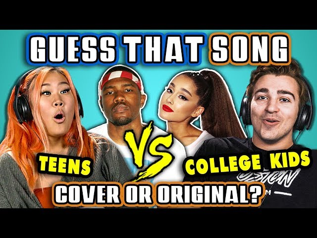 GUESS THAT SONG CHALLENGE - COVER OR ORIGINAL | Teens Vs. College Kids (React)