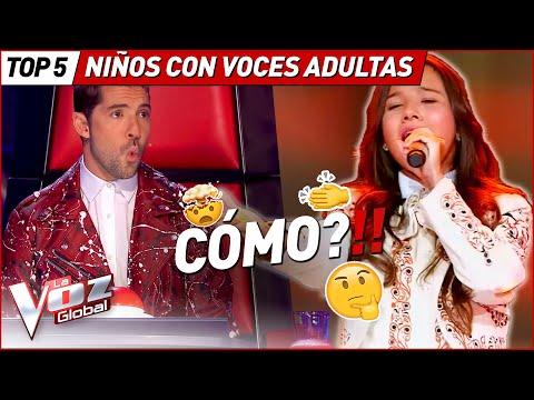 CONFUNDIERON sus voces con las de ADULTOS en La Voz Kids