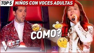 THEY CONFUSED their voices with ADULTS in La Voz Kids