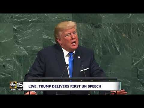FULL RAW: President Trump delivering a speech at the United Nations