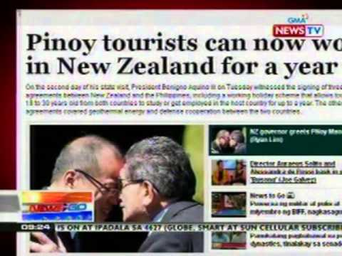 NTG: GMA News Online banner story: Pinoy tourist can now work in New Zealand for a year