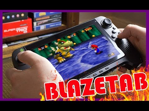 The BlazeTab Running Various Games