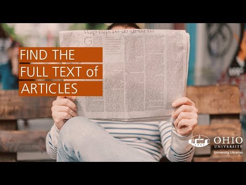 Get the Whole Article with Full Text Finder