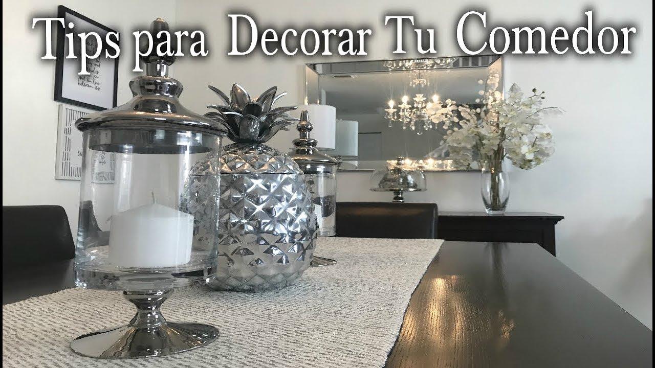 TIPS PARA DECORAR EL COMEDOR/IDEAS DE DECORACION /DIY - YouTube