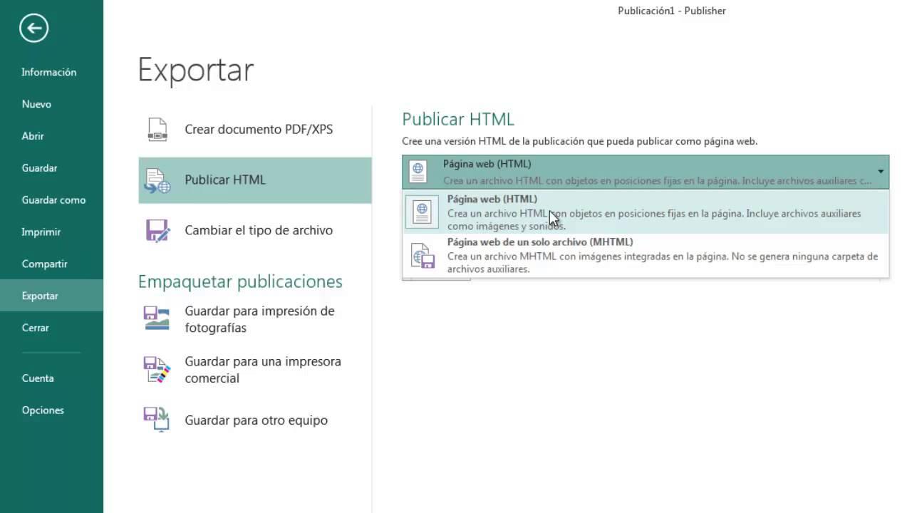 Página 5 De 6: Pagina Web Con Publisher 2013