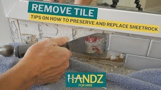 How To Remove Backsplash Tile Like A CHAMP