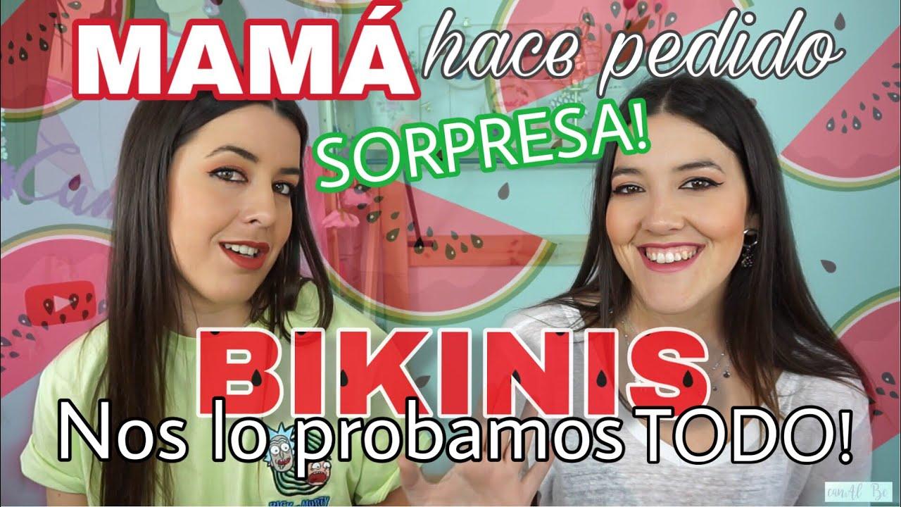 TRY ON HAUL: BIKINIS ELEGIDOS POR NUESTRA MADRE! | elcanalbe
