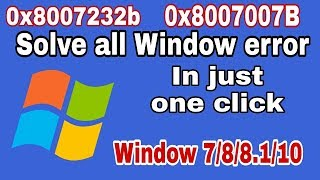 [in one clickc] how to solve window activation error 0x8007232b |0xc004f074 |0xc004f414 | 2017