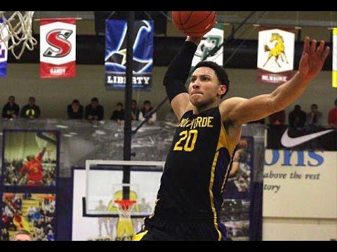 0eaa4e811ce Ben Simmons 20 Montverde Academy Eagles Basketball Jersey