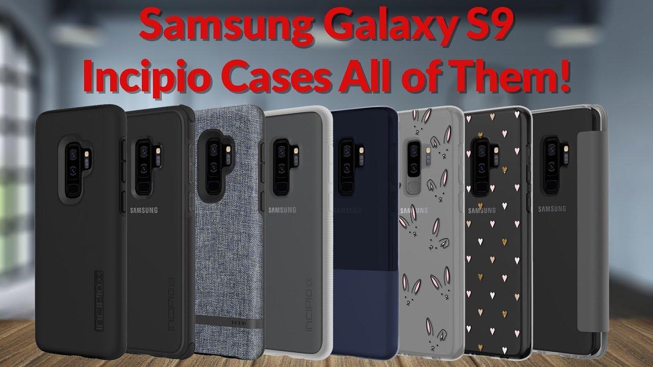 pretty nice d3712 fbf6a Samsung Galaxy S9 Incipio Cases All of Them! - YouTube Tech Guy