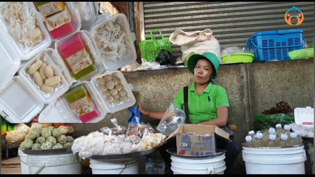 Khmer dessert/បង្អែមខ្មែរមួយប្រអប់ថ្លៃ៣០០០៛ទៅ៤០០០៛មានលក់នៅផ្សារអូរឬស្សី/cambodian desserts recipes