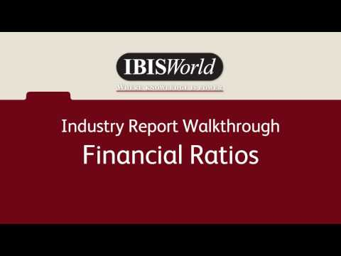 Financial Ratios - IBISWorld Industry Product