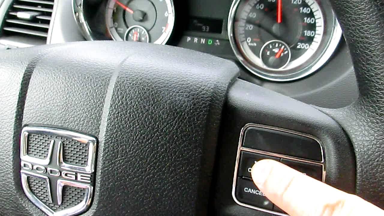 2011 Dodge Grand Caravan Cruise Control Shuts Off Youtube