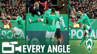 Leonardo Bittencourt Goal vs. Borussia Dortmund   EVERY ANGLE   SV WERDER BREMEN