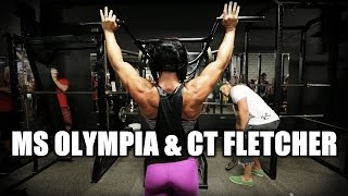 CT FLETCHER TRAINS MS. OLYMPIA DLB