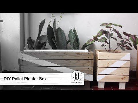 Membuat Tempat Pot Tanaman dari Kayu Pallet - DIY Pallet Planter Box