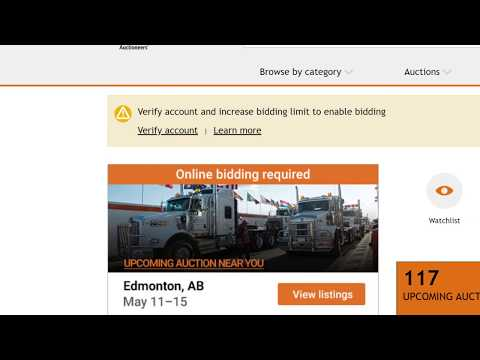 How To Bid Online At A Ritchie Bros. Equipment Auction