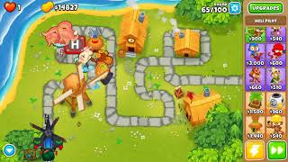 Bloons TD 6 - Hard, Impoppable, Town Centre, (NO MONKEY KNOWLEDGE)