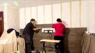 fitting laminate flooring to walls