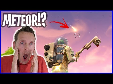 Meteor is Coming!!! Meteoroids are Burning in the Fortnite Sky!