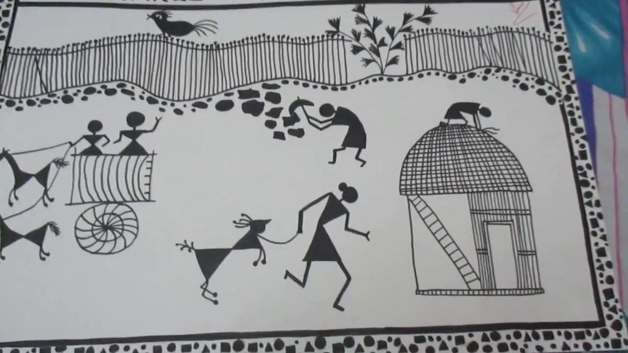 Easy Warli Art Paintings