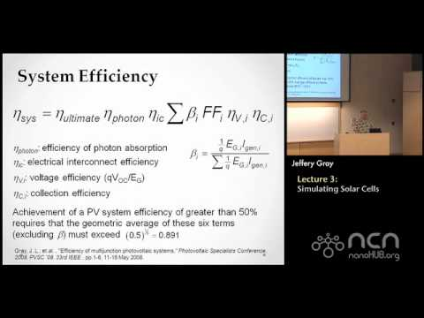 Solar Cells Lecture 3: Modeling and Simulation of Photovoltaic Devices and Systems