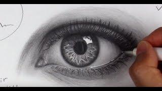 eye eyes beginners draw easy drawing realistic tutorial