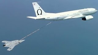 X-47B Drone 1st Autonomous Aerial Refueling - Military UAV
