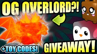 Bubble Gum Simulator Live Giveaway 🎁OG OVERLORD + Ultra Rare Pets + Toy Codes (Roblox 2019)