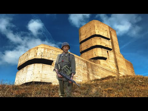 1942 German WW2 BUNKERS & Coastal Defences - INSIDE: Marinepeilstanden L'Angle MP4 Atlantic Wall