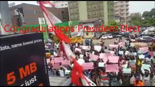 President Elect Julius Maaba Bio of Sierra Leone wins