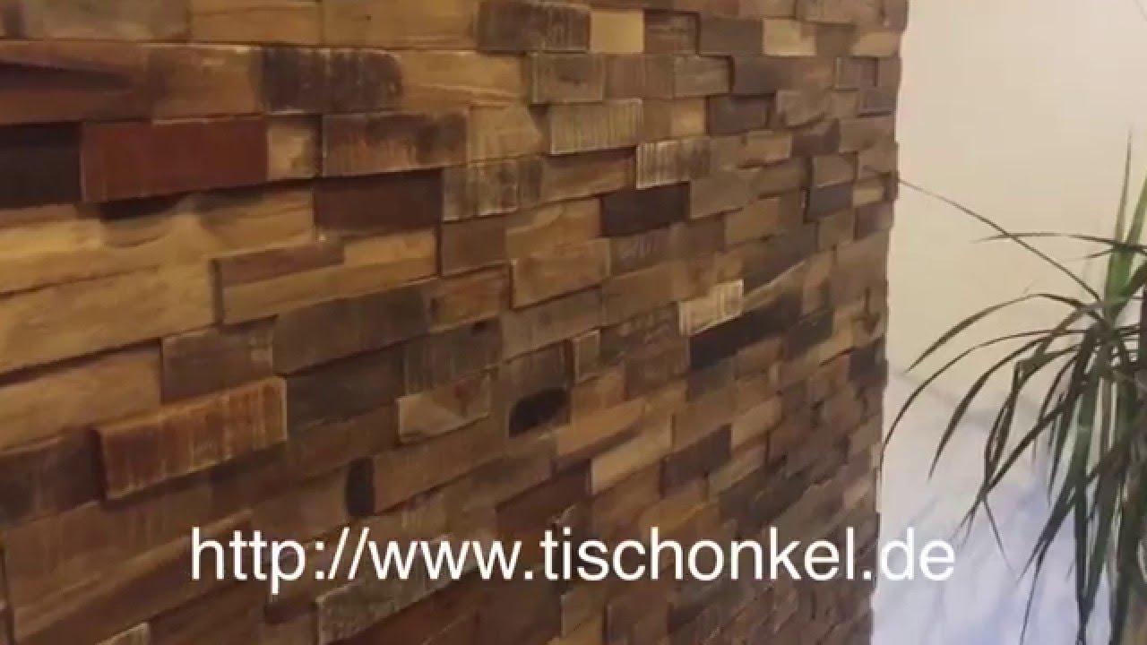 Wandverkleidung Aus Recyceltem Holz (HWV44NR)