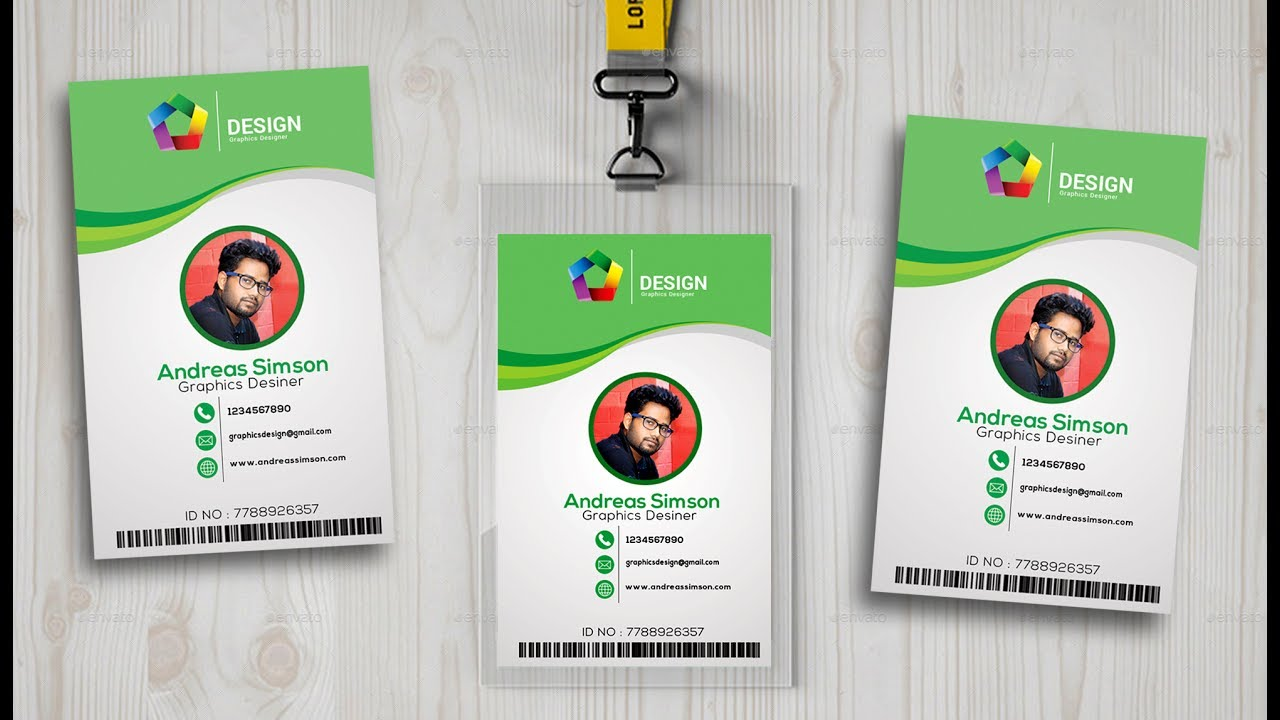 id card design in photo shop I Photoshop tutorials - YouTube
