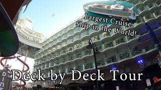 [4K] SYMPHONY OF THE SEAS Deck by Deck Tour of the largest cruise ship in the world Royal Caribbean
