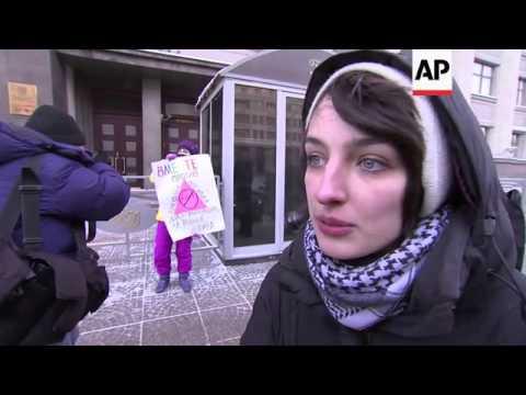 """Anti-gay law"" protest turns violent as Orthodox activists intervene"