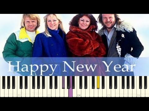 ABBA  Happy New Year  Piano Tutorial
