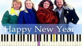 ABBA - Happy New Year - Piano Tutorial