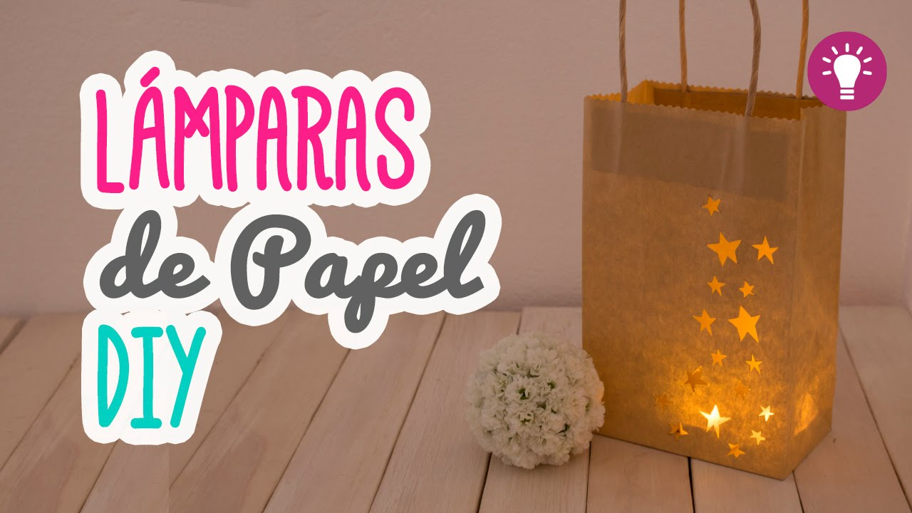 L mparas de papel f ciles ideas para decorar tu for Ideas faciles para decorar una habitacion