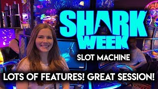 AWESOME Session On Sharkweek Slot Machine Shark Awards Lots Of Features