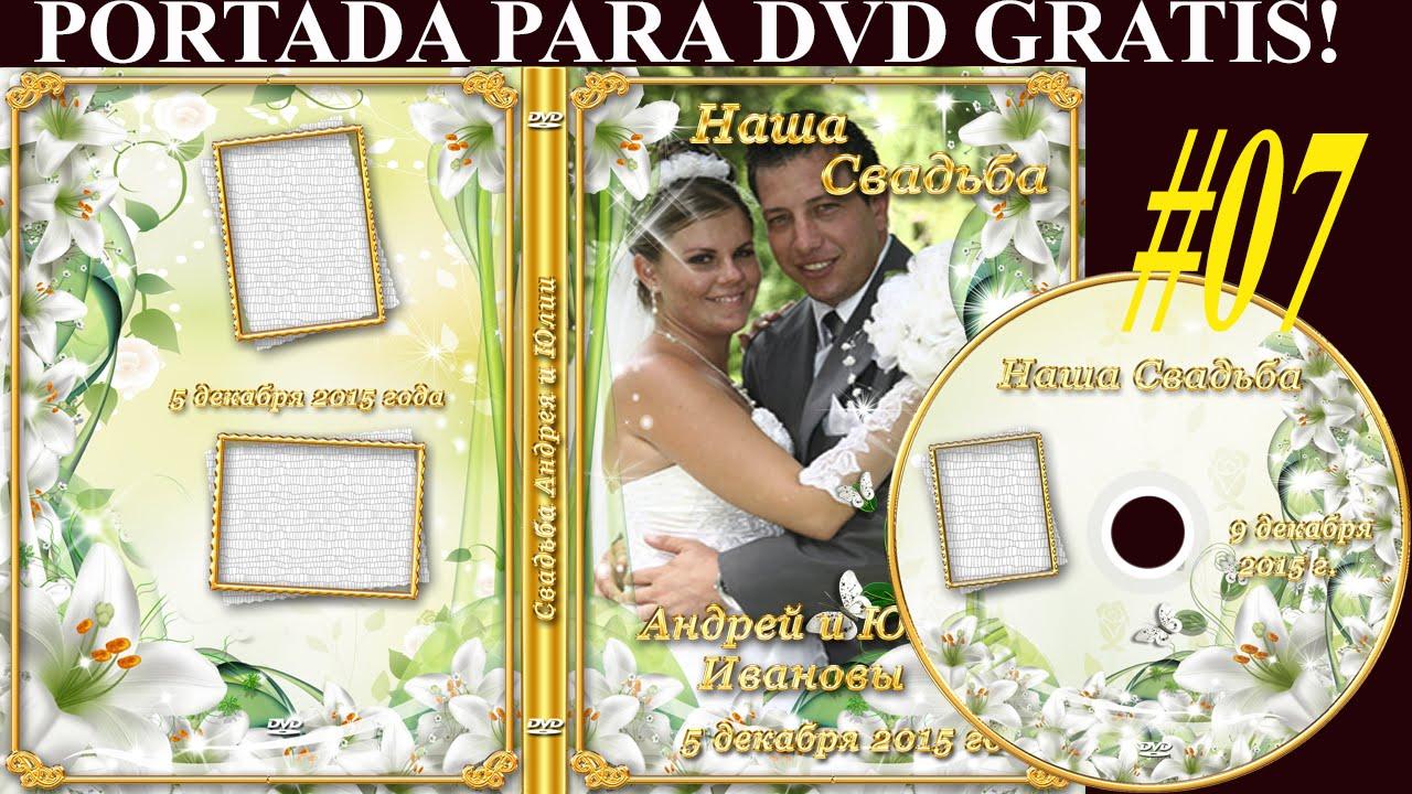 Plantillas psd para crear portada DVD - MATRIMONIO - con florales y ...
