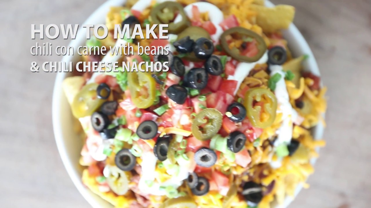 More Meals Less Time Chili Con Carne Loaded Chili Cheese Nachos