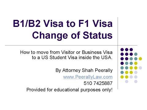 Changing Status from B1/B2 to F1 Visa | Visitor Visa to Student Visa