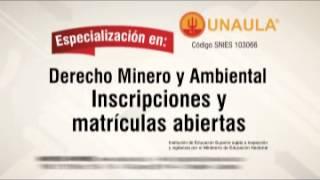 Especialización Derecho Minero y Ambiental - UNAULA
