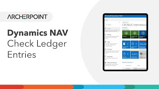 Dynamics NAV - Check Ledger Entries